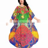 Women's Multi colour Free Size Straight Style Beautiful 3D Digital Printed Kaftan (kaftans 2017)