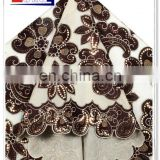 2013 afican nice organza velvet lace with sequins,velvet fabric, super quality velvet lace for party, wedding