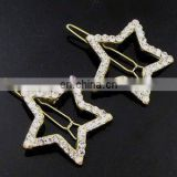2013 newest fashion alloy star rhinestone hair clip