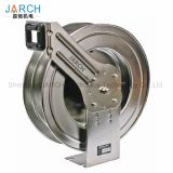 LC607 OLS Spring Retractable 304 Stainless Steel Hose Reel water air cable reels with 5 million life time rotary joint