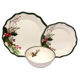 Competitive price 12pcs flower shape dinnerware plastic plates asian japanese korean dinner set with flower print