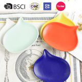 Wholesale ceramic plate cheap bulk color glazed stoneware dinner plates for wedding