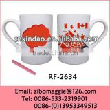 Straight Ceramic Coffee Mug and Beer Mug for 2014 World Cup Promotion Mug
