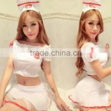 Factory price nurse costume mature women sexy lingerie