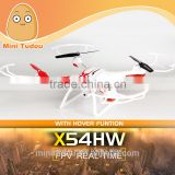 2016 newest arrival barometer height syma drone X54HW with wifi HD camera