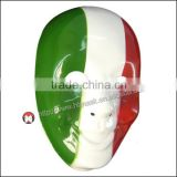 High Quality Halloween Costume Party Funny Smiling Old Man plastic Mask cosplay Italy flag mask