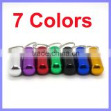 7 Color Option 48mm x 17mm Aluminum Pill Box Case Bottle Holder Container Keychain
