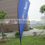 Advertising high quality feather flag in logo printing, outdoor promotional tear drop flag