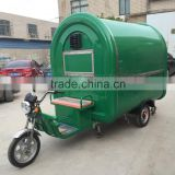 2016 Mobile green Fast Food Cart For Sales,Food Van/Street Food Vending Cart For Sales,Three electric food cart