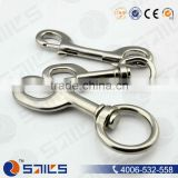 stainless steel safty d ring dog leash snap hook