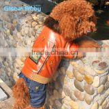 Luxury pet coat punk fashion artificial leather dog jacket with jeans pants