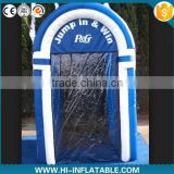 Customized promotional inflatable cash booth rental blowing counter machine for advertisment