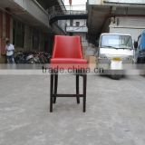 Red leather hotel bar stool XYN317