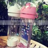 Multifunctional TRITAN Sort water bottle portable Ibottle with mobile phone holder Manufactured in China GYM bottle
