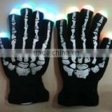 Flashing Luminous Skeleton Gloves with 6 functions & Light up led gloves with multi color
