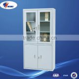 Double Door Office Filing Stereo Cabinet Glass Door