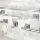 wallmounted square large layered bases 5pcs zinc alloy bathroom accessories set bathroom sanitary accessory