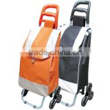 Three wheels climbing stairs folding shopping trolley cart bag
