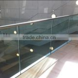 glass railing accessories stainless steel mini top rail / handrail slotted pipe for glass railing designs