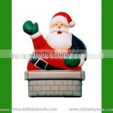 Air blower / air power / air-blown inflatable decoration christmas santa claus with bag