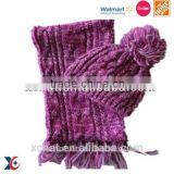 Walmart factory latested style lady wool scarf,knitted beanie wool hat,fashion hat scarf                                                                         Quality Choice