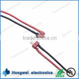 Customzed electronic battery cable harness T plug male with silicone wire cable assembly