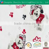 Snow adventure bear 100% cotton printed fabric for interlining fabric