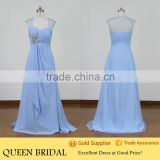 Real Sample Cap Sleeve Beautiful Evening Dress 2015 Evening Gown Layered Chiffon