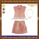Middle east fancy design lace girls frock suits