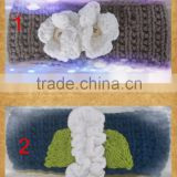 2014 newest style lucky braid knit crochet headband with flower                                                                         Quality Choice