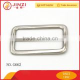 Good quality bag reversible metal belt buckle slider 50mm