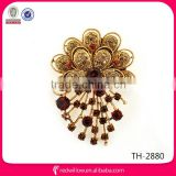 Factory directly antique style Rhinestone Brooch Pin Bouquet For lady
