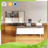 Sunshine Office Furniture Division Head Office Use Quick Assembly Wooden Work Table Middle Executive Desk With Drawers