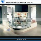 2014 hot sale modern artificial marble cambered bar counter furniture for catering industry
