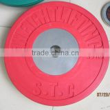 colored bumper olympic plate