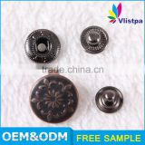 guangzhou garment accessories trousers metal hook button