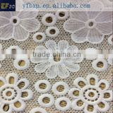 Milk silk material white cupion lace fabric 2015/ wedding bridal lace fabric/ indian lace embroidery fabric
