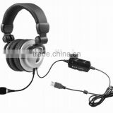 Long cable super bass computer headset with vibrator for computer game