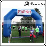 6*3m deep blue inflatable advertising arch gate, inflatable finish line archway for events