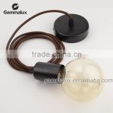 Pendant Lamp Cord Set with Ceiling Rose Modern Edison Bare Bulb Cord Set
