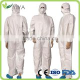 INQUIRY ABOUT Hot Sale White Disposable Non-woven Work Coveralls with Elastic