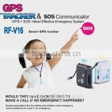 smart RF-V16 mini personal gps tracker & SOS communicator for children anti-lost and long standby time