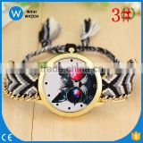 PW040 fashion big face indian dreamcatcher printed watch Braided Cat Dial Watch