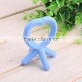 factory price wholesale food grade silicone baby rattle and teether
