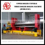 Upper roller universal Hydraulic three roller rolling machine,bending machine,folding machine