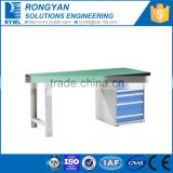 blue cheap work desk with cabinet