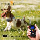Beeper/shock/vibration 300m Remote Control No Bark Electronic Dog Training Collar
