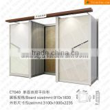 two side sliding display stand for ceramic tiles in showroom/trade show ceramic tiles exhibition display rack stand CT040