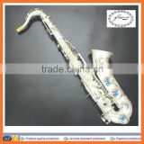 silver saxophone professional tenor saxophone roll tone hole tenor saxophone double arms tenor saxophone