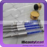 New coming metal and acrylic 5 pcs nail art brush set nail drawing brush nail acrylic brush